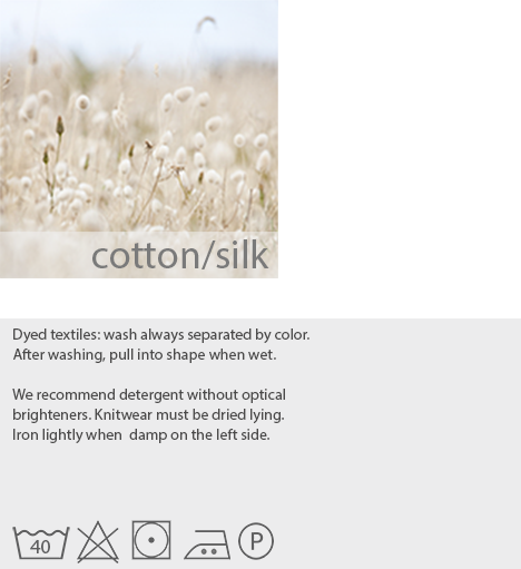 care instructions organic cotton silk