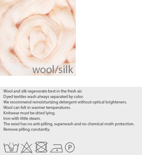 care instructions wool silk